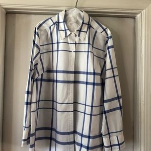 Cotton Long Sleeve Button Up - LANE BRYANT SIZE 22